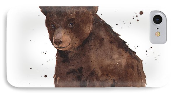 Baby Bear IPhone Case by Alison Fennell
