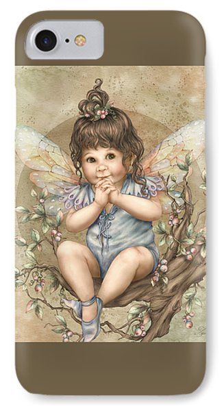 Baby Berry Fairy IPhone Case by Beverly Levi-Parker