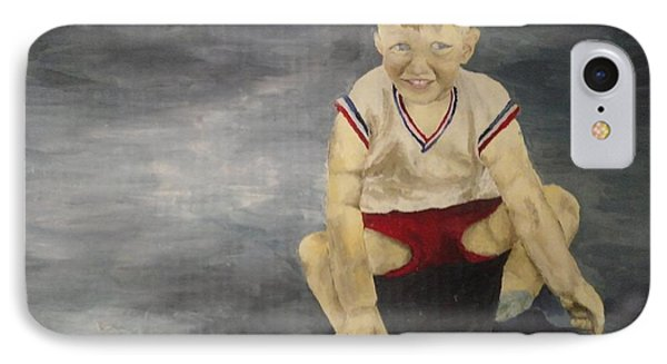 IPhone Case featuring the painting Baby Bill  by Mary Ellen Anderson