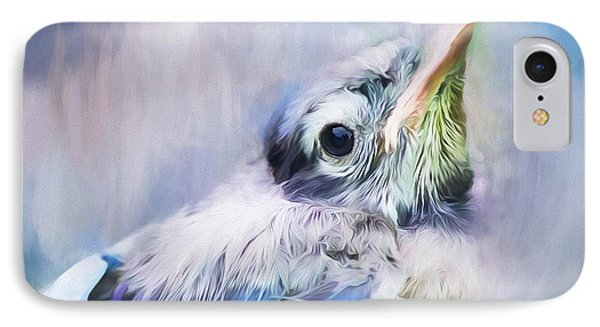 Baby Blue Jay IPhone Case by Darren Fisher