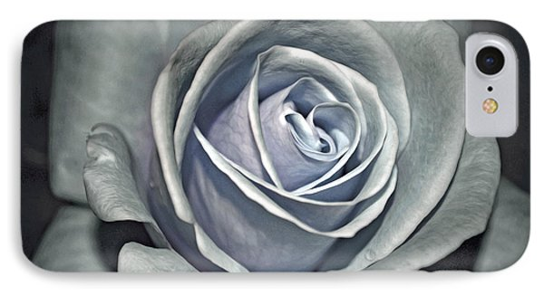 IPhone Case featuring the photograph Baby Blue Rose by Savannah Gibbs