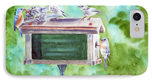 Baby Blues - Eastern Bluebird Family Phone Case by Kathryn Duncan