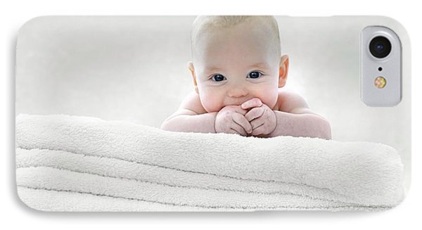 Baby Boy Lying On Towels IPhone Case by Ruth Jenkinson