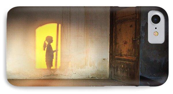 Baby Do Not Open That Door IPhone Case by Alfio Finocchiaro