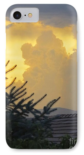 Baby Elephant Cloud IPhone Case by Phyllis Kaltenbach