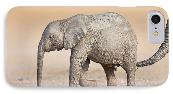 Cow iPhone 7 Case - Baby Elephant  by Johan Swanepoel