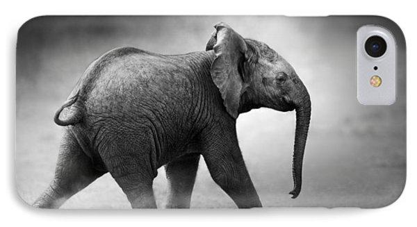 Baby Elephant Running IPhone Case