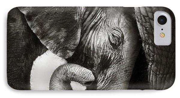 Baby Elephant Seeking Comfort IPhone 7 Case by Johan Swanepoel