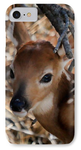 Baby Face Fawn IPhone Case by Athena Mckinzie