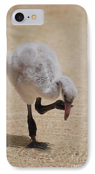 Baby Flamingo IPhone Case by DejaVu Designs