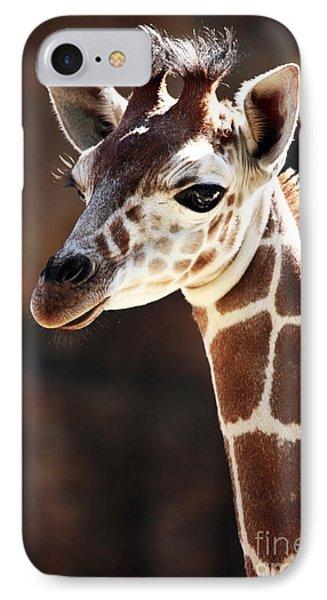 Baby Giraffe Phone Case by John Rizzuto