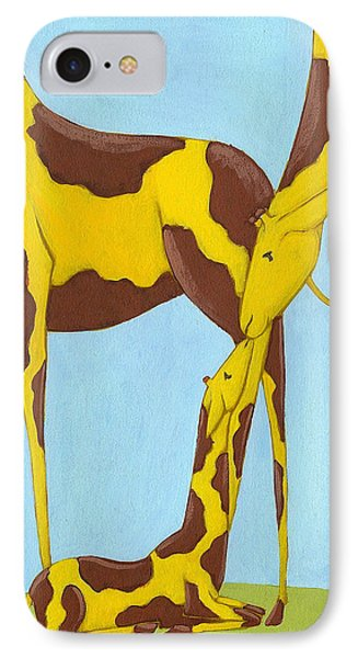Baby Giraffe Nursery Art Phone Case by Christy Beckwith