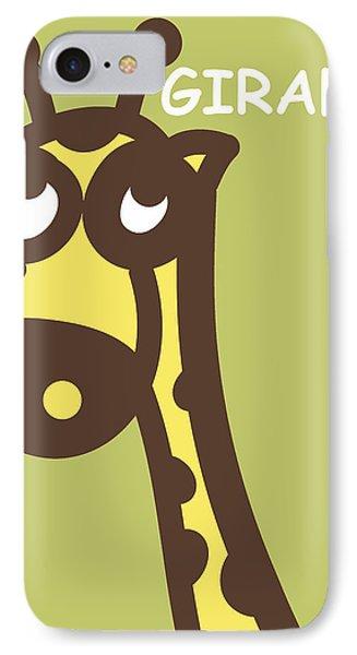 Baby Giraffe Nursery Wall Art Phone Case by Nursery Art