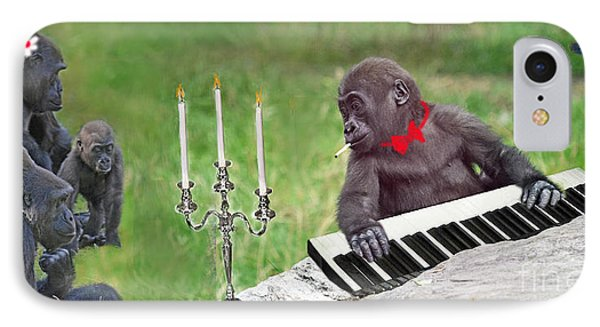 Baby Gorilla Concert In The Park IPhone Case by Jim Fitzpatrick