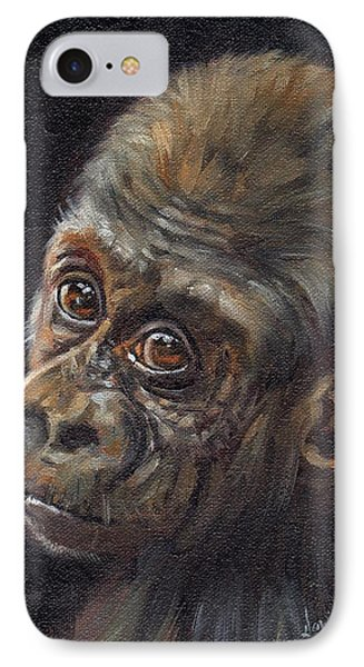 Baby Gorilla IPhone Case by David Stribbling