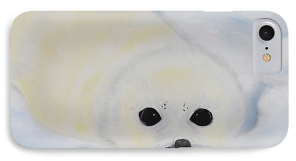 Baby Harp Seal IPhone Case by Bev Conover