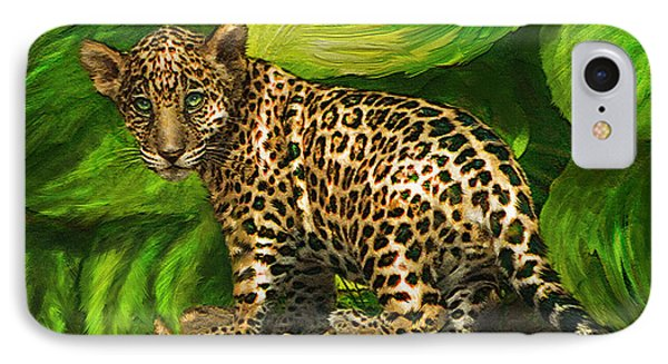 Baby Jaguar Phone Case by Jane Schnetlage