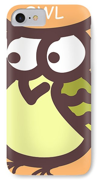 Baby Owl Nursery Wall Art Phone Case by Nursery Art