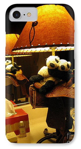 Baby Pandas In A Saddle  IPhone Case by Ausra Huntington nee Paulauskaite