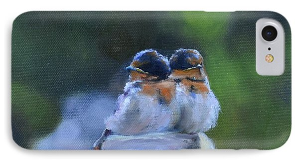 Baby Swallows On Post IPhone Case