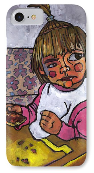 Baby With Pizza Phone Case by Douglas Simonson