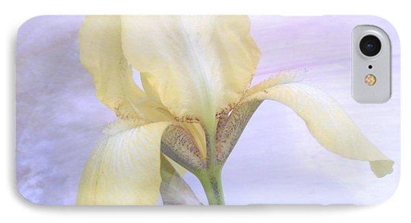 Baby Yellow Iris IPhone Case by Marsha Heiken