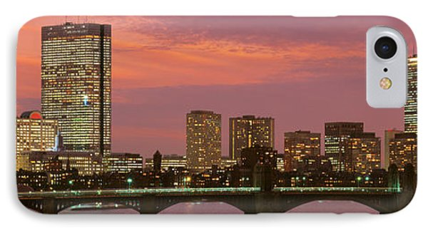 City Sunset iPhone 7 Case - Back Bay, Boston, Massachusetts, Usa by Panoramic Images
