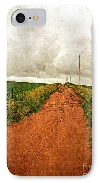 Back Country Road Prince Edward Island IPhone Case by Edward Fielding