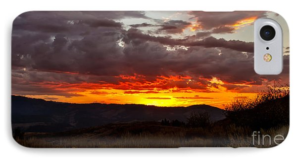 Back Country Sunset IPhone Case by Robert Bales