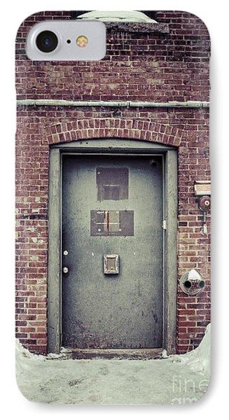 Back Door Alley Way IPhone Case by Edward Fielding