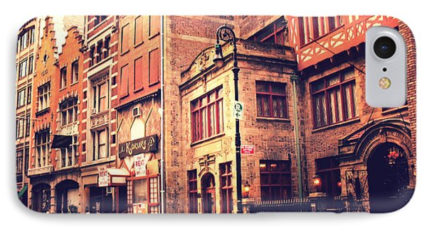 Back In Time - Stone Street Historic District - New York City Phone Case by Vivienne Gucwa