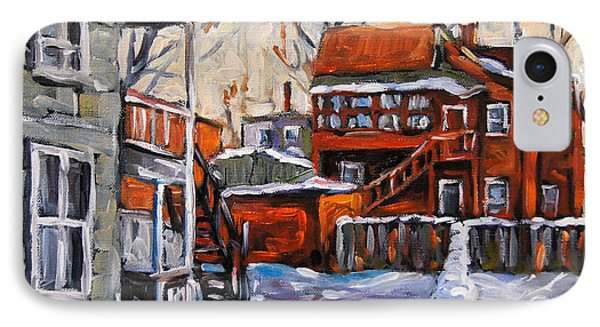 Back Lanes 02 Montreal By Prankearts IPhone Case
