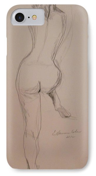 Back Of Nude With Foot Up Phone Case by Esther Newman-Cohen