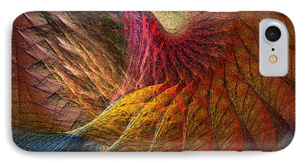 Back On Earth Abstract Art Print IPhone Case by Karin Kuhlmann