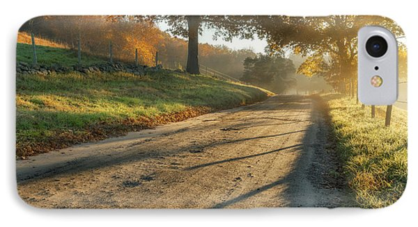 Back Road Morning Phone Case by Bill Wakeley