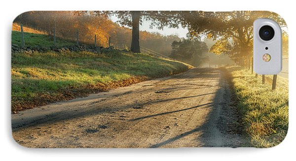 Back Road Morning IPhone Case