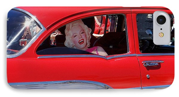IPhone Case featuring the photograph Back Seat Marilyn by Ed Weidman