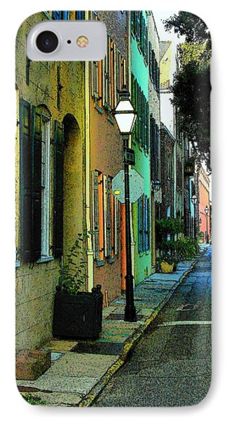 IPhone Case featuring the photograph Back Street In Charleston by Rodney Lee Williams