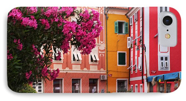 Back Streets Of Izola Slovenia IPhone Case by Graham Hawcroft pixsellpix