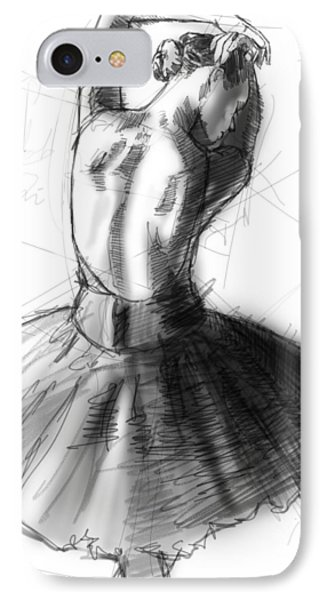 Back Study IPhone Case by H James Hoff
