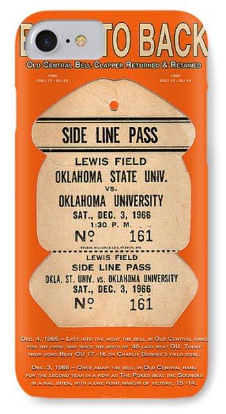 Oklahoma University iPhone 7 Case - Back To Back Rivalry Wins by Robert J Sadler