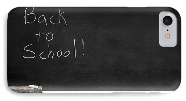 Back To School Chalkboard Phone Case by Lane Erickson