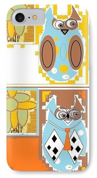 IPhone Case featuring the digital art Back To School Owl by Ann Calvo