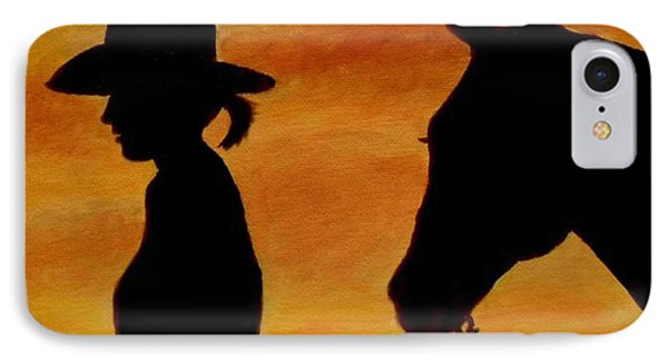 IPhone Case featuring the painting Back To The Barn by Julie Brugh Riffey