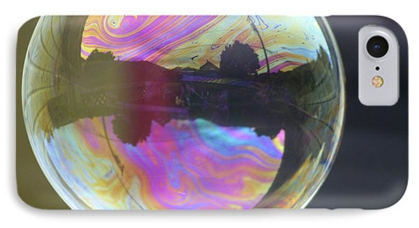 Back Yard Bubble IPhone Case by Cathie Douglas