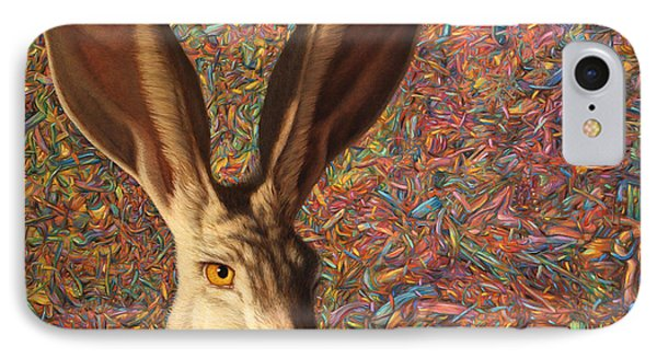 Rabbit iPhone 7 Case - Background Noise by James W Johnson