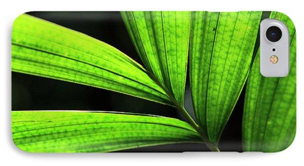 Far North Queensland iPhone 7 Case - Backlit Rainforest Plants Create by Paul Dymond