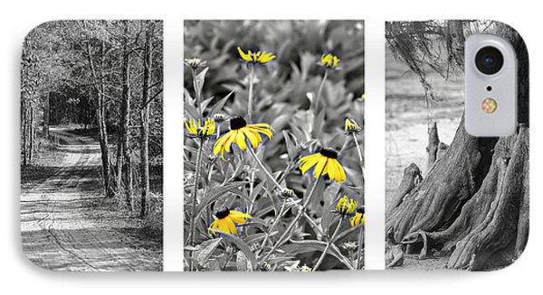 Backwoods Escape Triptych Phone Case by Carolyn Marshall