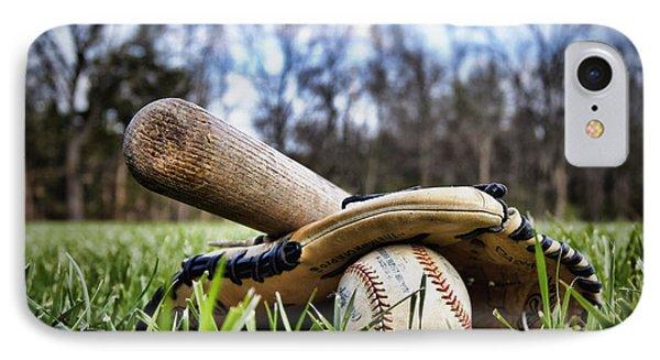 Backyard Baseball Memories Phone Case by Cricket Hackmann