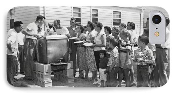 Backyard Clambake IPhone Case by Underwood Archives